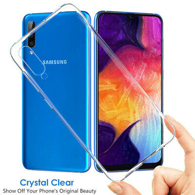 For Samsung Galaxy A50 A30 Ultra-Thin Shockproof Clear Soft Silicone Case Cover