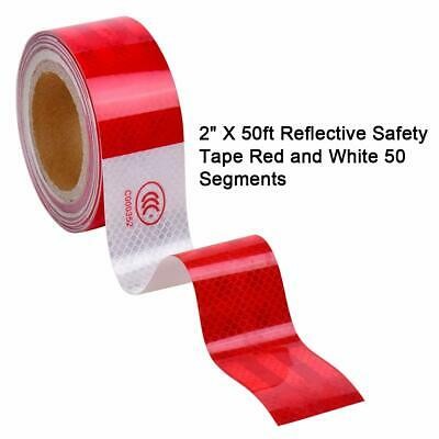 """Approved Reflective Trailer Red White 2""""x50' -1 Roll Conspicuity Tape DOT-C2 Hot"""