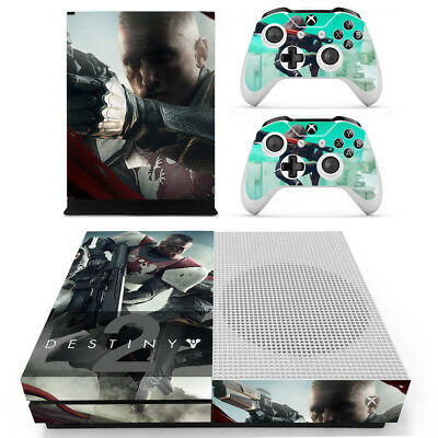 Xbox One S Console Skin Sticker Decal Destiny + 2 Controller Skins