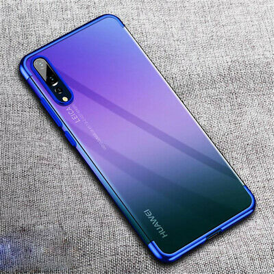 For Samsung Galaxy A40 A50 A30 A10 Electroplating TPU Clear Slim Soft Cover Case