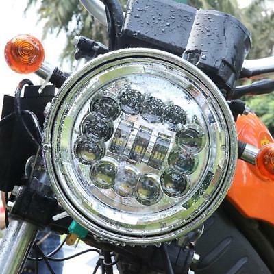 "7"" Chrome LED Headlight High-Low Beam w/ DRL Turn Signal For Harley Davidson"