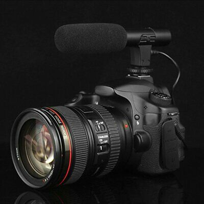 3.5mm Recording Microphone Interview Mic for DSLR Camera Video DV Camcorder DM