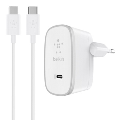Belkin USB-C AC Charger white + 1,5m USB-C Cable F7U008vf05-WHT NEW