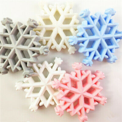 Kids Bracelet Silicone Teether Snowflakes Shape Teething Infants Chewing Toys BS