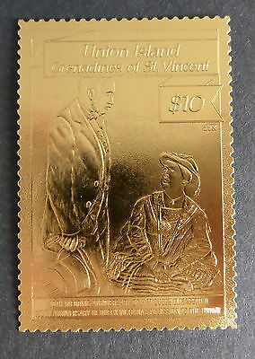 Union Island Gren St Vincent 1987 40th Wedding Ann Gold UM MNH unmounted mint