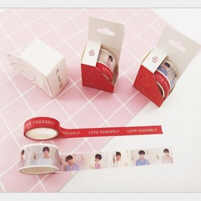 BTS World Tour Love Yourself Washi Tape Paper Masking Scrapbook Sticker 2pcs