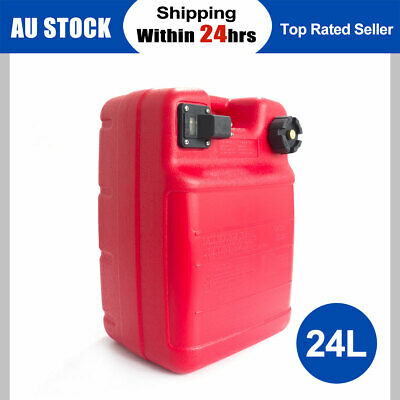 24L Portable Boat Fuel Tank Yamaha Marine Outboard Fuel Tank W/ Connector