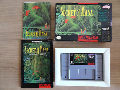 """Secret of Mana SNES complete with box, manual and map in """"awesome condition"""""""