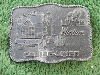 Vintage R & S 1976 Mack Western Cruise-Liner Truck Belt Buckle Lot #2
