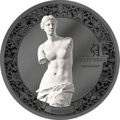 Palau 2017 10$ Venus de Milo - Eternal Sculptures 2 oz Black Proof Silver Coin