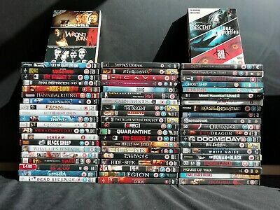 64 x Horror DVD's - Jeepers Creepers 1+2, The Thing, Cave  & more (E601)