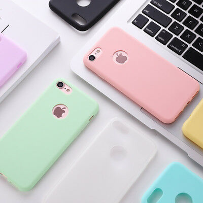 Shockproof Candy Color Silicone Case for iPhone 6 7 8 Plus 5s SE X Xs Max Cover