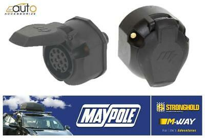 Mp129 Towing Caravan Trailer 12V 13 Pin Plastic  Euro Socket