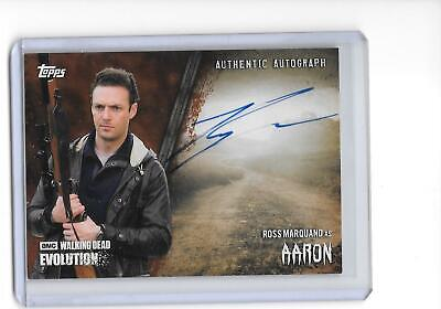 The Walking Dead Evolution Ross Marquand as Aaron Brown Auto Autograph 28/99
