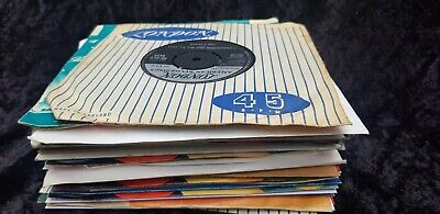 job lot of 30 1960's POP and ROCK SINGLES 7 inch vinyl VG to NM- artists listed