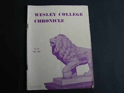 Wesley College Chronicle MAY 1960