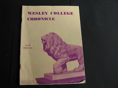 Wesley College Chronicle  AUGUST 1956
