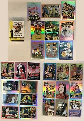 MOVIE POSTERS 2009 STARS MONSTERS & COMEDY Breygent Complete Card Set w 27 CHASE