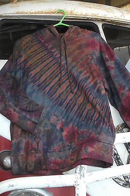 L@@k!new! Freesize To 16+ Thick Tiedye Boho Hippie Doof Festival Hoodie Top-Af59