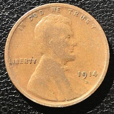 1914 D Wheat Penny Lincoln Cent 1c RARE Key Date High Grade #14351