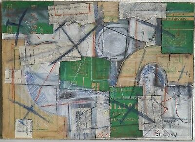 Vintage retro abstract collage Gliding modernist style Kurt Schwitters influence