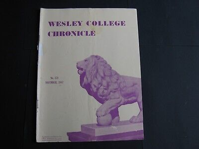 Wesley College Chronicle DECEMBER 1957