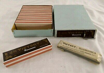 12 x Vintage VICTOR Harmonicas 2x boxes of 6. Brand new in 2 slightly torn boxes
