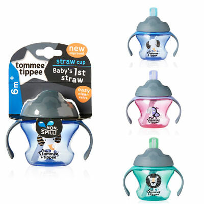 Tommee Tippee 6m+ Baby's 1st Straw Weaning Cup - With Easy Clean Valve