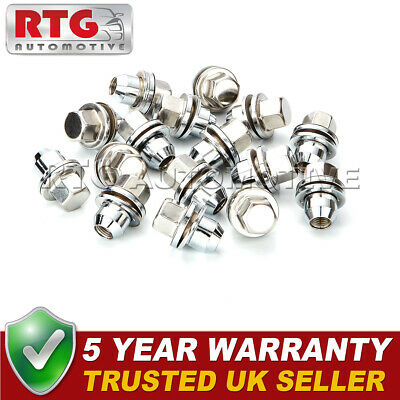 16x Stainless Steel Wheel Nuts + Washers For Range Rover L322 06-12 22mm Hex
