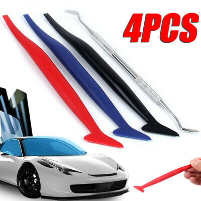 4pcs Micro Squeegee Set 4in1 for Car Vinyl Wrapping Film Sticker Wrap Truck Tool