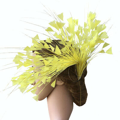 80 Colours Peacock Feather Flower Turkey Twisted Mount Millinery Hats Fascinator