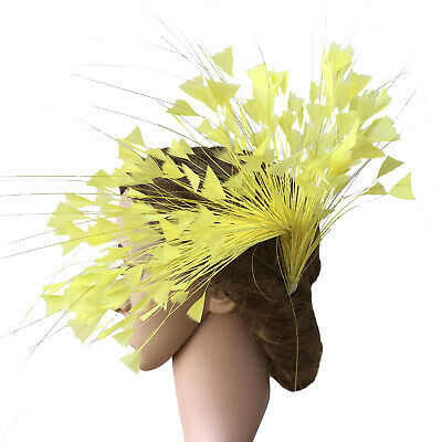 80 Colours Turkey Twisted Mount Peacock Feather Flower Millinery Hats Fascinator