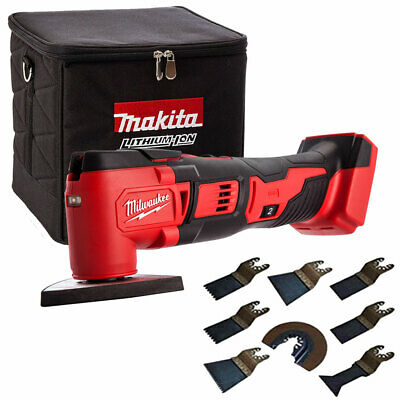 Milwaukee M18BMT-0 M18 18V Multi Tool With Cube Tool Bag & 8pcs Accessories Set