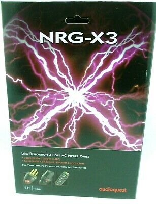 Audioquest NRG-X3 Power Cable 6' 3 pole AC Power Cable