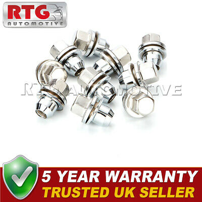 10x Stainless Steel Wheel Nuts + Washers For Discovery + Range Rover 22mm Hex