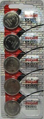 Maxell CR2032 Micro Lithium Cell Batteries - 5 Pack - Use By 2023 Date