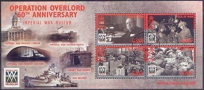 Isle of Man 2004 D-DAY (Operation Overlord) Imperial War Museum MiniSheet CTO
