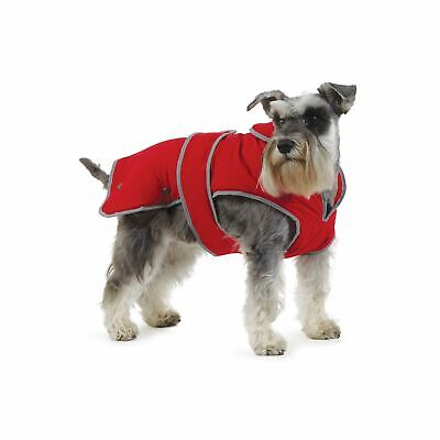 Ancol Muddy Paws Stormguard Fleece Lined Dog Coat Small Red