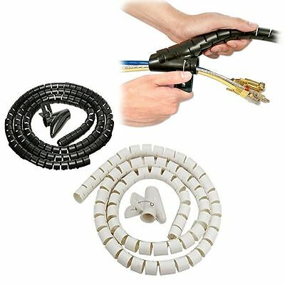 Large Cable Tidy Kit Pc Tv Wire Organizing Wrap Tool Spiral Office Home-2 Meter