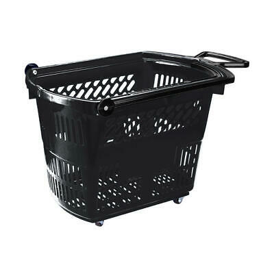 Plastic Shopping Baskets Rolling on Wheels Coloured Shopper Baskets 33 Litre
