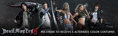 Devil May Cry 5 Deluxe Edition DLC AND Preorder Bonus 5 Costumes DLC PS4