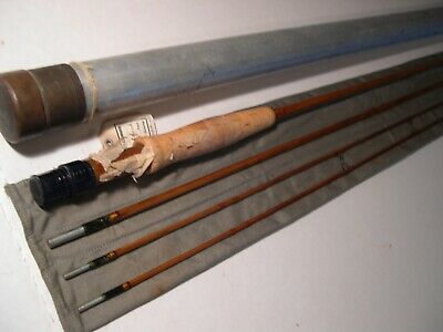 H L Leonard 8 Foot 3/2 Tournament Special Bamboo Fly Rod Never Used