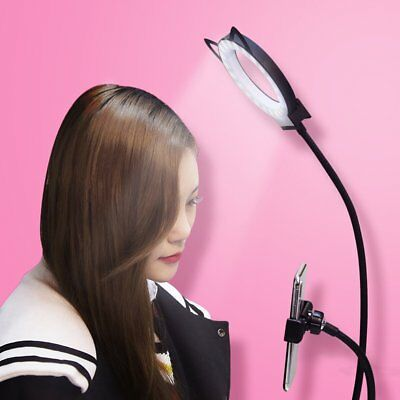 Mini LED Camera Ring Light Dimmable Phone Video Lamp With Tripod Selfie Stick DX