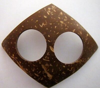 Coconut Shell Buckle To Secure Sarong Or Scarf  New