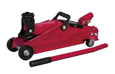 """2-Ton Hydraulic Car Trolley Jack 13"""" Lift Vehicle Over-Pump Bypass Protection"""