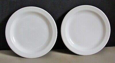 "2 Wedgewood  Stonehenge Midwinter White Pattern 7"" Bread & Butter Plates England"