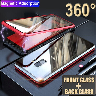 360° Full Body Double Sides Glass Magnetic Case for Samsung Galaxy S8 S9 10 Plus