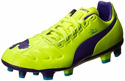 deb65c46a PUMA Evopower 3 Firm Ground JR. Soccer Shoe , Fluroscent Yellow/Prism  Violet/