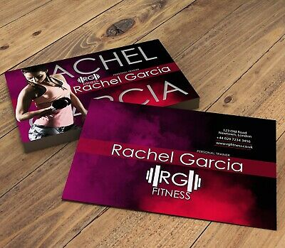 Personalised Personal Trainer & Ftiness Instructor Business Cards Female Design