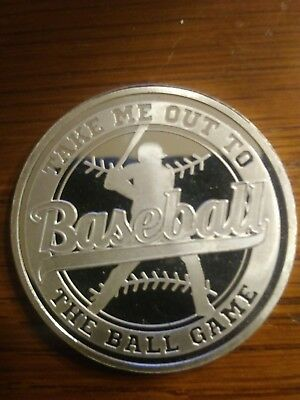 Baseball Take Me Out to the Ball Game 1 OZ .999 Fine Silver Round Coin